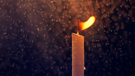 fire candle  rain drops wallpapers