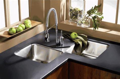 space saving kitchen sink modern kitchens with space saving and ergonomic corner sinks 5637