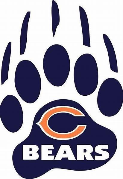 Bears Chicago Paw Decal Sticker Window Vinyl