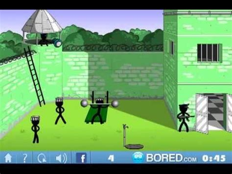 stickman jam prison official bored com walkthrough