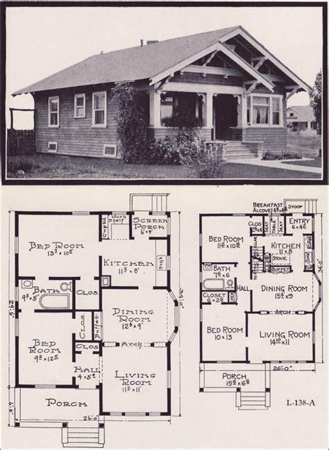 craftsman style floor plans 1920s craftsman bungalow house plans 1920 original
