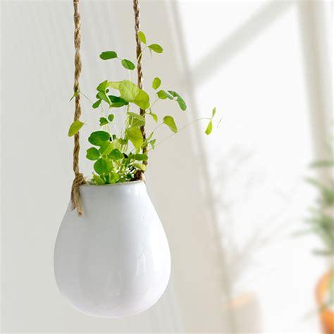 petit pot de fleur pas cher pas cher aibei zakka c 233 ramique blanc suspendus pot de fleur style japonais mignon petit oeuf