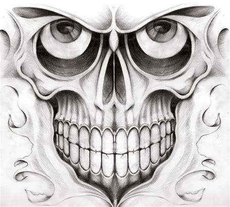 Art Skull Surreal Tattoo Stock Illustration