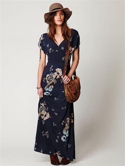 lyst splendid maxi dress free stardust sleeve maxi dress in blue lyst