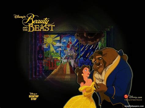 Beauty And The Beast Cartoon Background For Galaxy Note