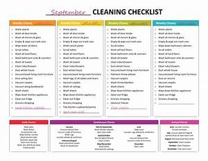 complete housekeeping printable set spring cleaning With domestic cleaning schedule template