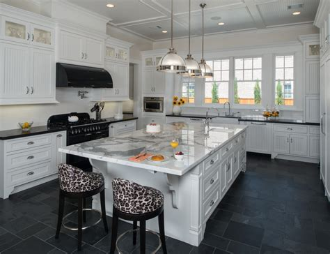 slate floor kitchen fall in with the artistic look and rustic texture of
