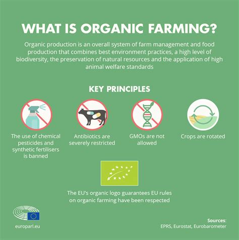 eus organic food market facts  rules infographic