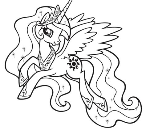 princess celestia coloring pages my pony princess coloring pages