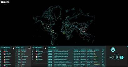 Hacker Map Cyber Gifs Attack Global War