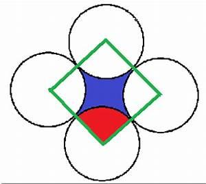 Quadrat Fläche Berechnen : kreisbogen 4 kreise bilden eine neue fl che berechne ~ Themetempest.com Abrechnung