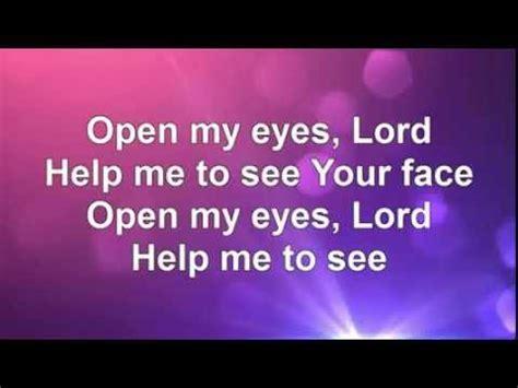 Open My Eyes Lyrics Youtube