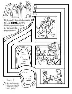 LDS Nephi Gets the Brass Plates Coloring Pages