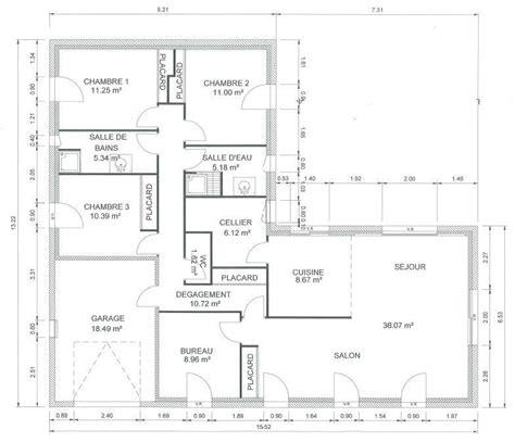 plan de maison 120m2 4 chambres plan maison plain pied 120m2 28 images plans maisons