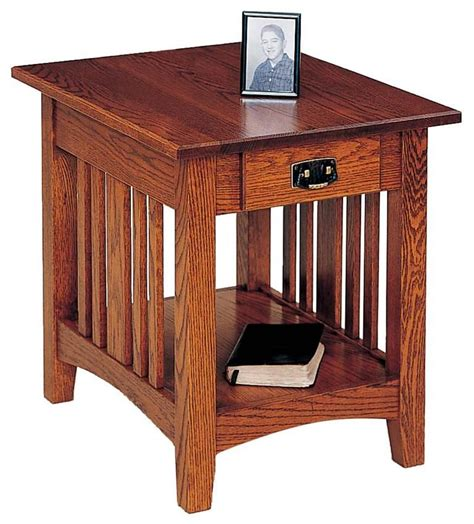 Bedroom End Tables Plans by Mission End Table By Keystone Table Plans Living Rooms