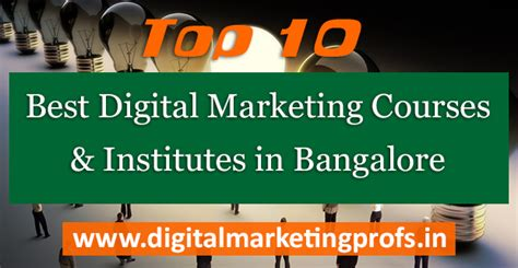 Digital Marketing Courses In Bangalore by Top 10 Best Digital Marketing Courses And Institutes In