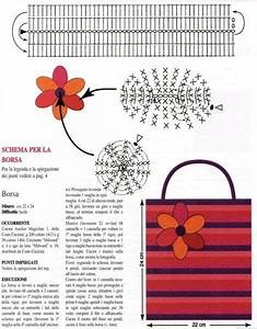 Crochet Bag  Belt And Flower  Diagrams Only    U2600cq  Crochet