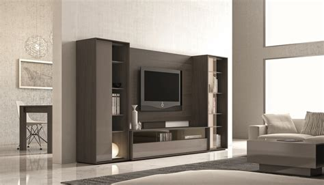 ultra contemporary lacquered wall unit with display