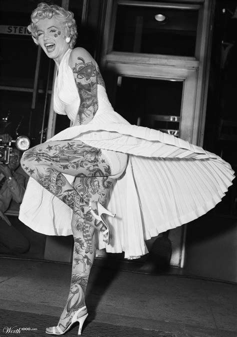 The real side of Marilyn Monroe - Worth1000 Contests | My profile | Cool tats, Cool tattoos