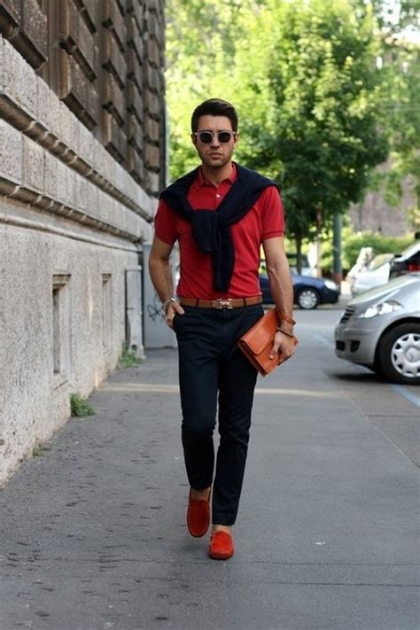 Red polo shirt red shoes AND Hermes belt. HOT! | Men Fashion | Pinterest | Preppy blogs Pants ...