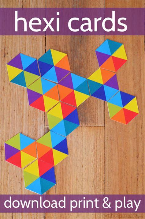 Jeux De Cartes Hexagonales Gratuit à Imprimer