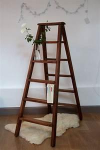 Echelle En Bois Déco : ancien escabeau de peintre en bois chelle double pour ~ Dailycaller-alerts.com Idées de Décoration