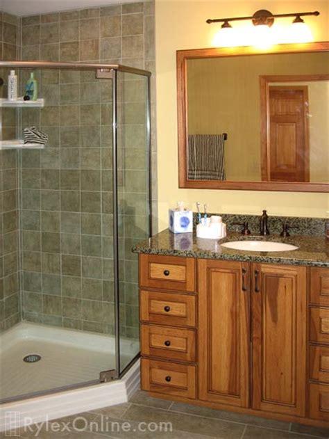 hickory wood bathroom vanity solid wood cabinet orange county ny