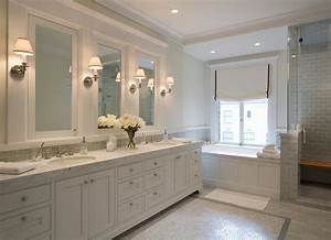 how to light a bathroom mirror with sconces With what kind of paint to use on kitchen cabinets for framed bathroom wall art