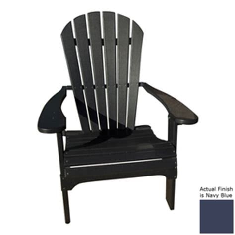 navy blue adirondack chairs shop navy blue recycled plastic adirondack