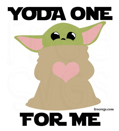 These free images are pixel perfect to fit your design and available in both png and vector. Free Baby Yoda SVG File - Yoda One For Me - Free SVGs