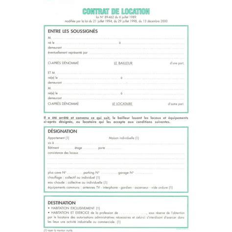 Contrat De Location Locaux Meubles Feuilles De Contrat De Location Pour Locaux Non Meubl 233 S