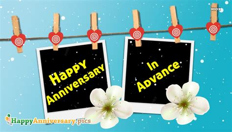 advance happy anniversary wishes images