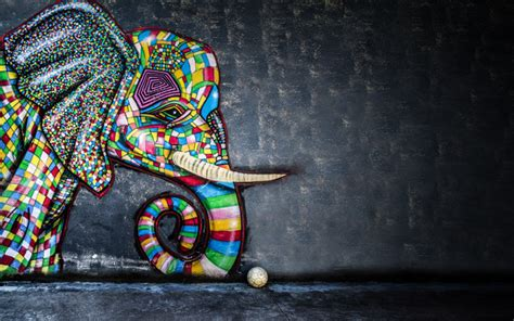 wallpapers graffiti   elephant drawing