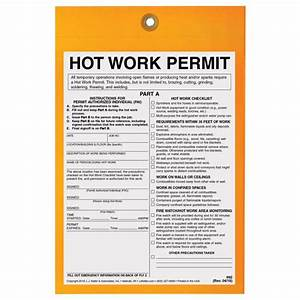 work permit driverlayer search engine With hot works permit template