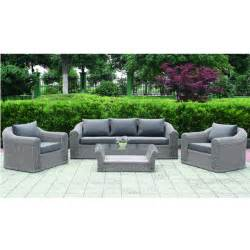 salon de jardin 6 places rotin tress 233 gris chypre