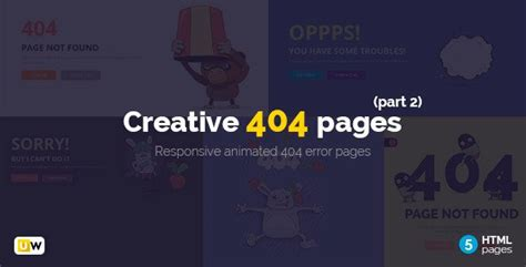 404 page template creative 404 pages part 2 html free free after effects template videohive projects
