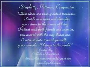 My Poems, Recip... Simplicity Patience Compassion Quotes
