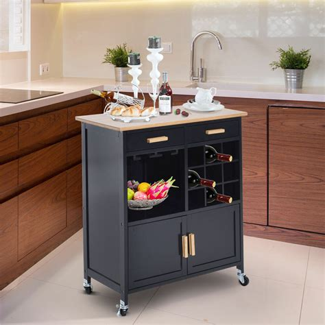 portable kitchen island portable kitchen rolling cart island storage wine rack