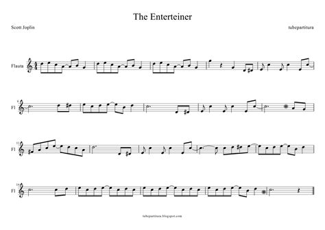 The entertainer a ragtime two step. tubescore: Sheet music for The Entertainer for Flute by Scott Joplin in key C major. The ...