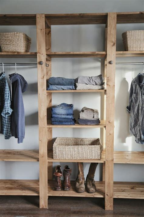 Closet Remodel Diy by White Build A Industrial Style Wood Slat Closet