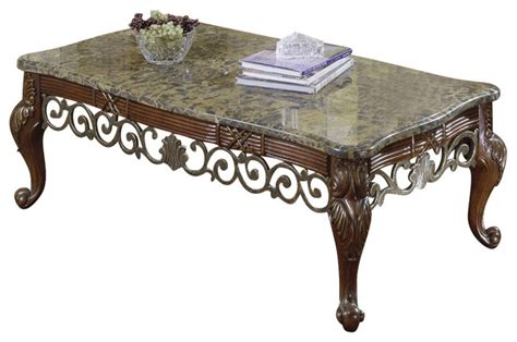homelegance barcelona 3 marble top coffee tables set