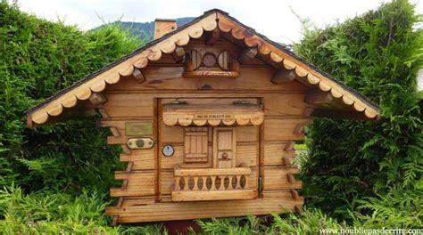 boite aux lettres chalet boite aux lettres en bois forme chalet mzaol