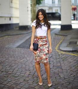 Best Floral Print Skirt Outfits 2018   FashionTasty.com