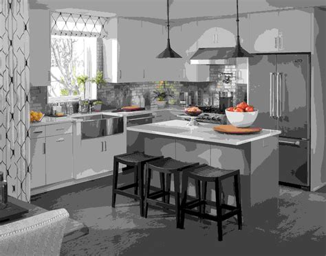 petit ilot pour cuisine cuisine avec îlot central moderne au quotidien