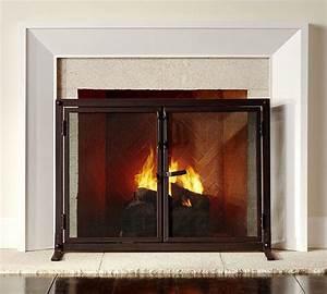 Industrial, Fireplace, Open, Door, Screen