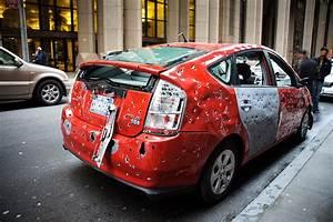 Toyota Prius Full Of Bullet Holes