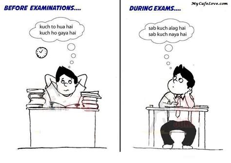 Exams Tension Funny Quotes