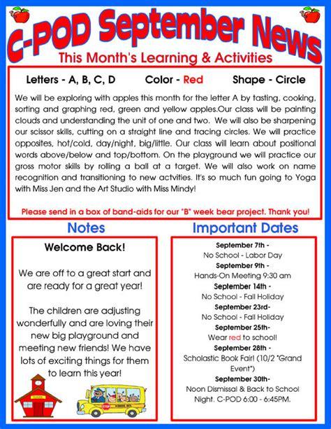 delray day care facility monthly newsletter 608   C POD SEPTEMBER NEWSLETTER