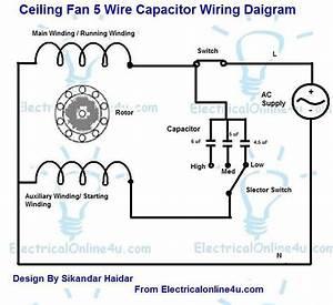 Electric Motor Wiring Diagram Capacitor