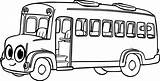 Bus Coloring Cartoon Cliparts Morphle Clipart Clip sketch template